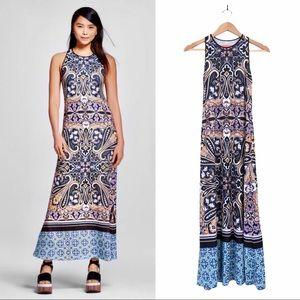 {Clover Canyon} Scarf Printed Maxi Dress
